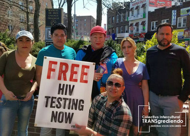 Nuestrxs Voluntarixs en el National Transgender HIV Testing Day