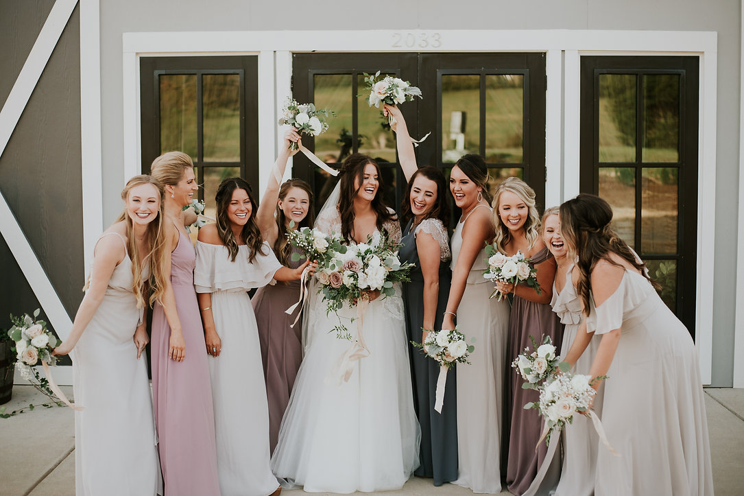 bridal party allenbrooke farms wedding, nashville wedding