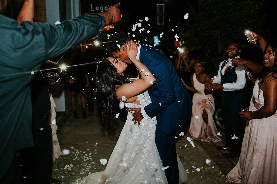 unique wedding exit, cell phone flash exit, nashville wedding photographer, black wedding, black love