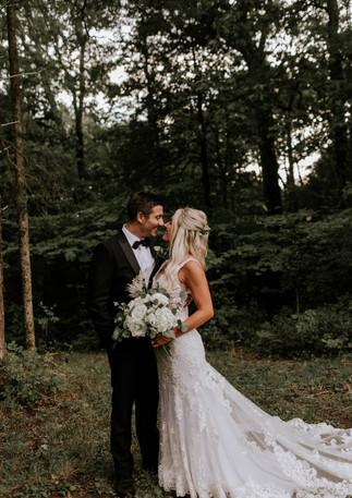 moody forest wedding