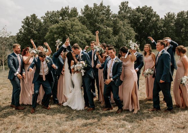 wedding party fun photo