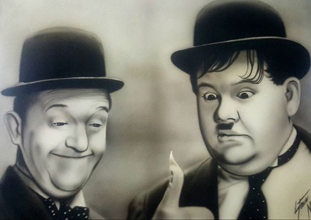 A airbrushed painting i did for my Dad 2