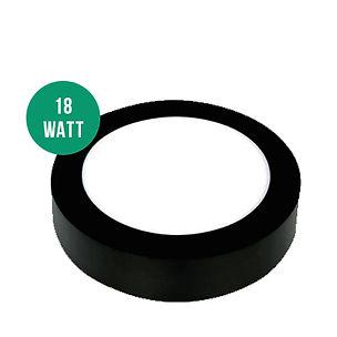 18-Watt-Sıva-Üstü-Yuvarlak-Panel-Siyah