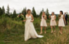 Wedding party. Bride