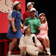 "As Sally Brown in ""You're a Good Man, Charlie Brown,"" 2014"