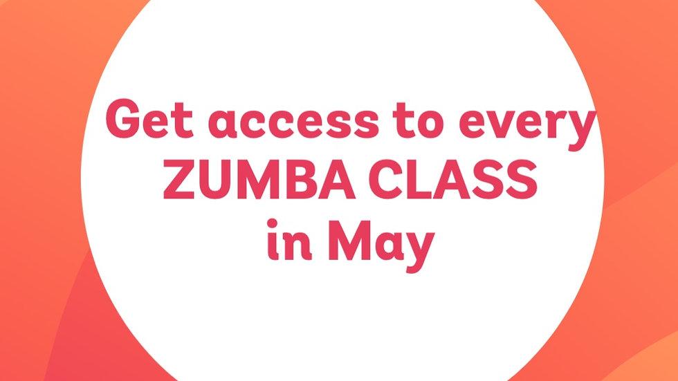 5 - May Zoom Zumba classes