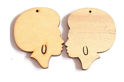 Hand-Painted Customisable Wooden Earrings