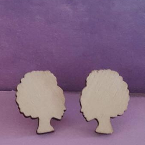 Hand-painted Customisable Wooden Stud Earrings