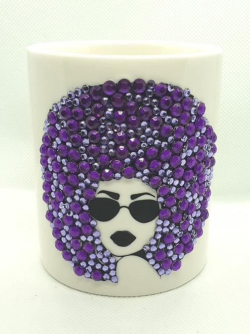 Rhinestone Mug -Ms Aza Collection