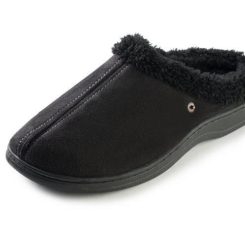 Mens Faux Fleece Comfortable Slip On Slippers
