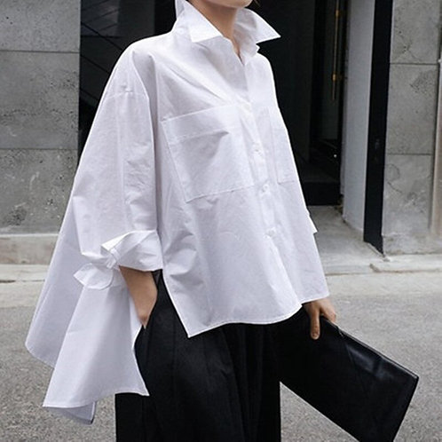 Chic Long Sleeve  Loose Blouse
