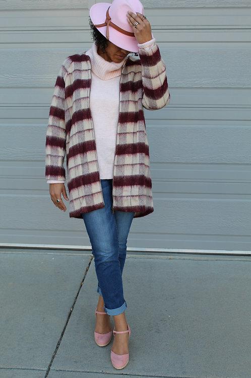 Wool Cranberry Coat