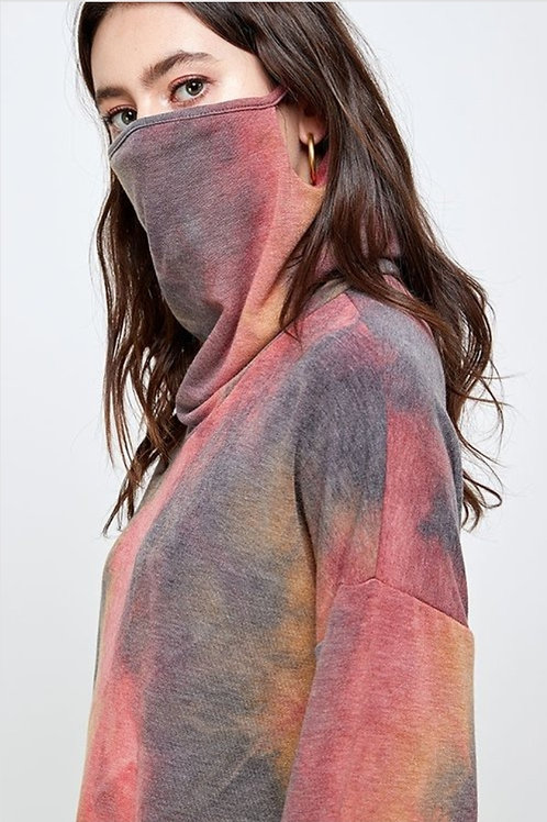 Masked Long Sleeve Top - Plus Size