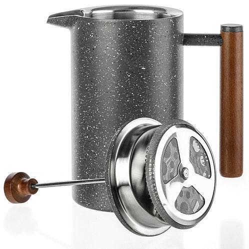 Marble Stainless Steel French Press 32oz - Coffee Tea Teapot
