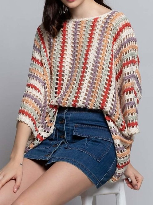 Boho Pom Pom Sweater