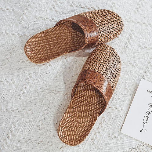 Rattan Unisex Indoor Slippers/House Shoes
