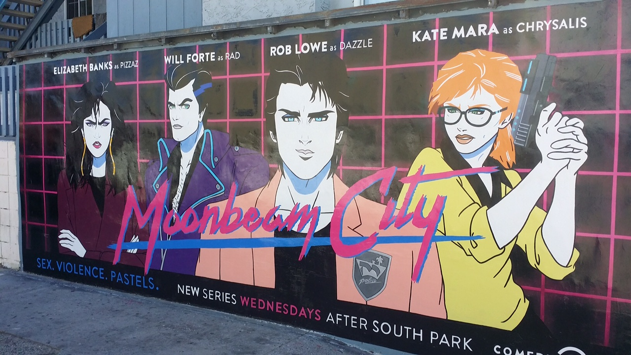 Moonbeam City Wallscape