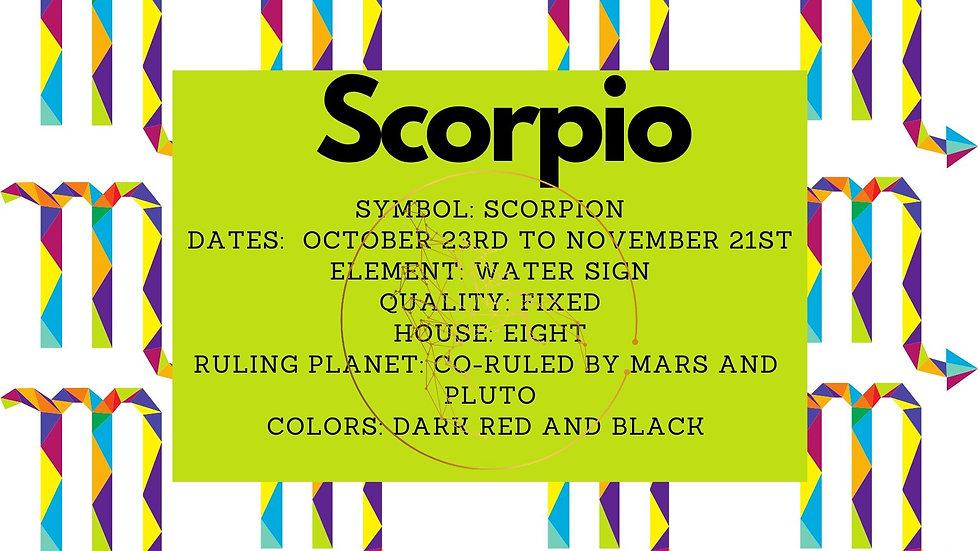 Scorpio Zodiac Candle