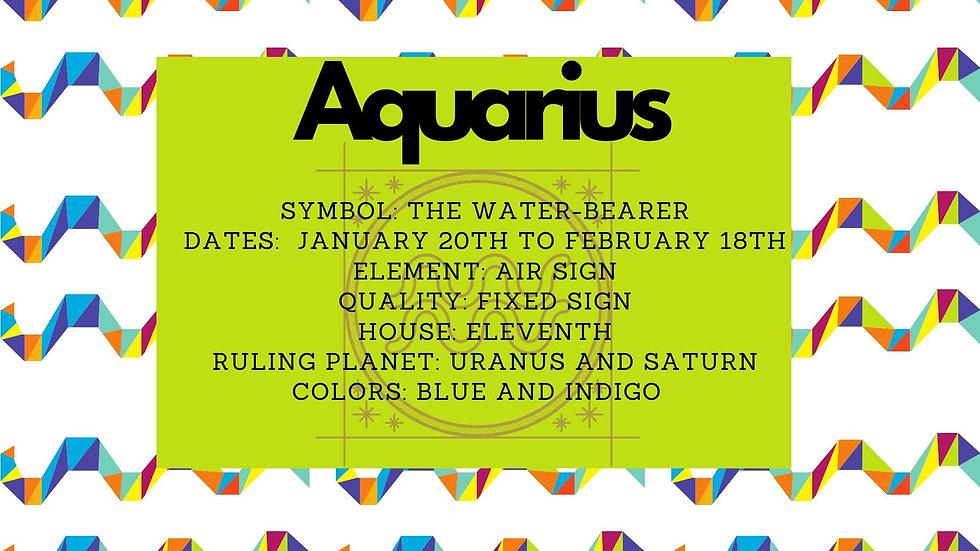 Aquarius Zodiac Candle