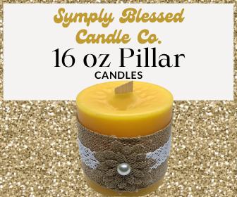 16 Oz Pillar Candle
