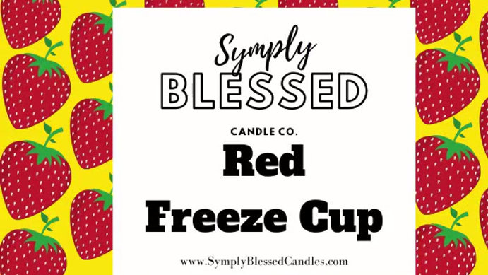 Red Freeze Cup *Strawberry*