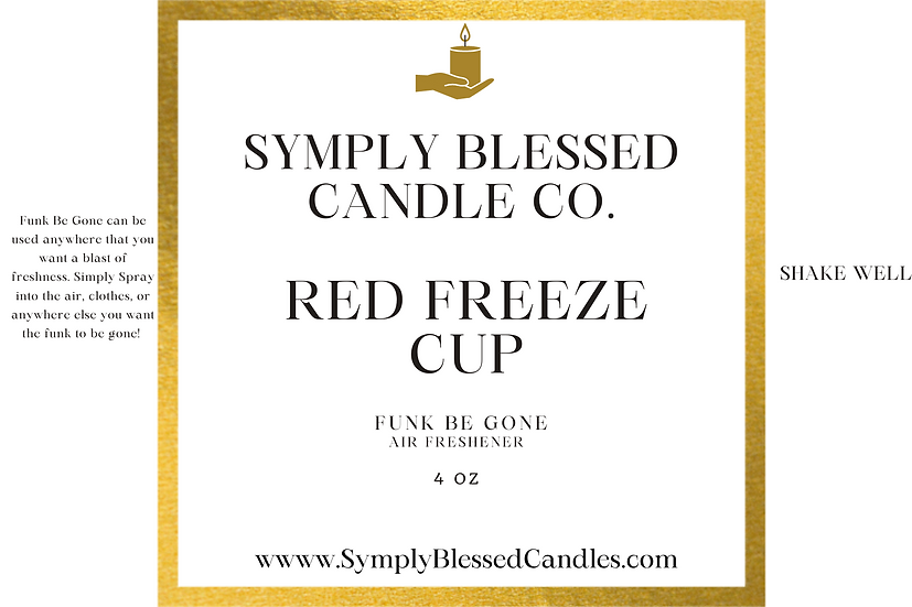 Red Freeze Cup (Strawberry) Spray