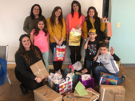 Volunteers Wrapped Birthday Presents for CASA Kids