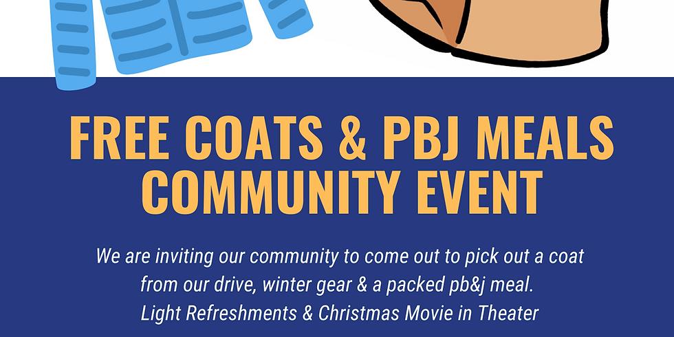 Free Coat & PBJ Meal Community Event