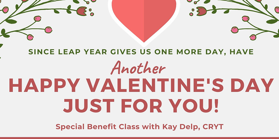 Happy Valentine's Day to You Benefit Yoga Event