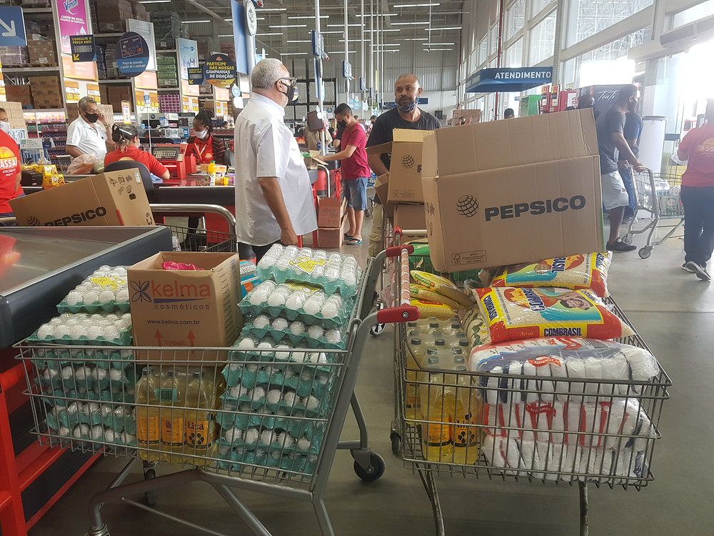 Donated funds have been used to purchase the food for women and children in dire need.