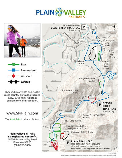 Plain Valley Ski Trails_Ski Map 2020-21U