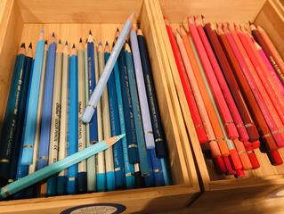 色鉛筆の収納を変えてみた