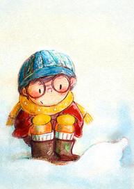 絵本『雪の中には何がある?』文と絵:しばなお