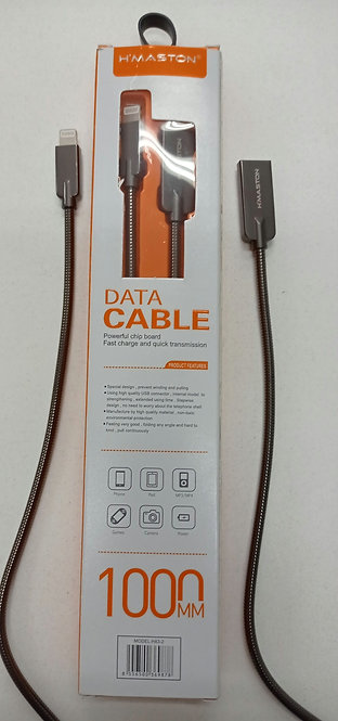 Cabo H'Maston metálico USB Cabo iPhone/iPad 1 metro