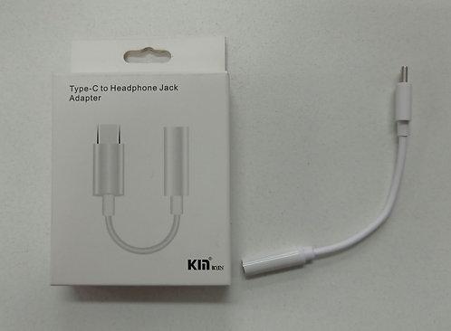 Cabo adaptador de fone de ouvido P2 para Cabo tipo C