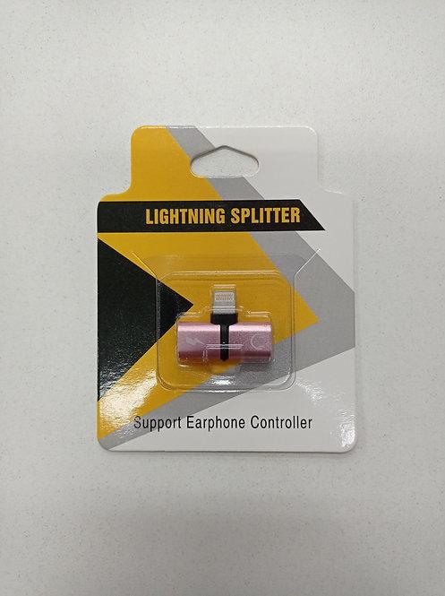 Cabo adaptador de fone de ouvido para iPhone/iPad Lightning