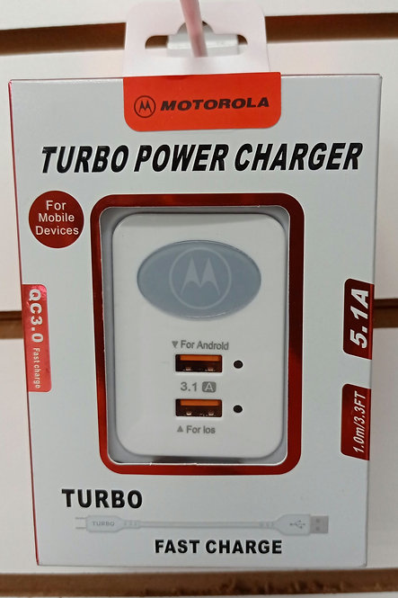 Carregador Motorola 2 USB + Cabo V8/MicroUSB