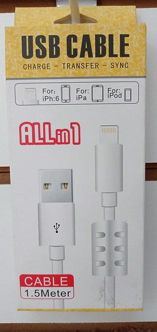 Cabo para iPhone/iPad 1.5 Metros