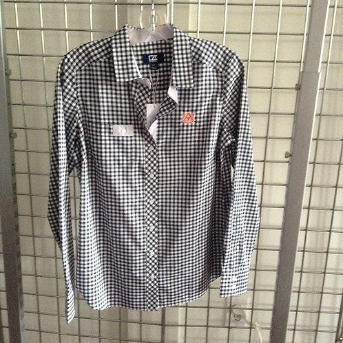 Cutter & Buck Plaid Dress Shirt
