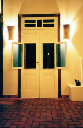 1920s front door repurposed for a new build