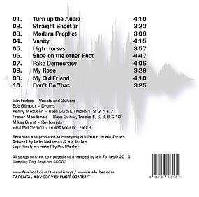 Track listing for The Audiorayz Album