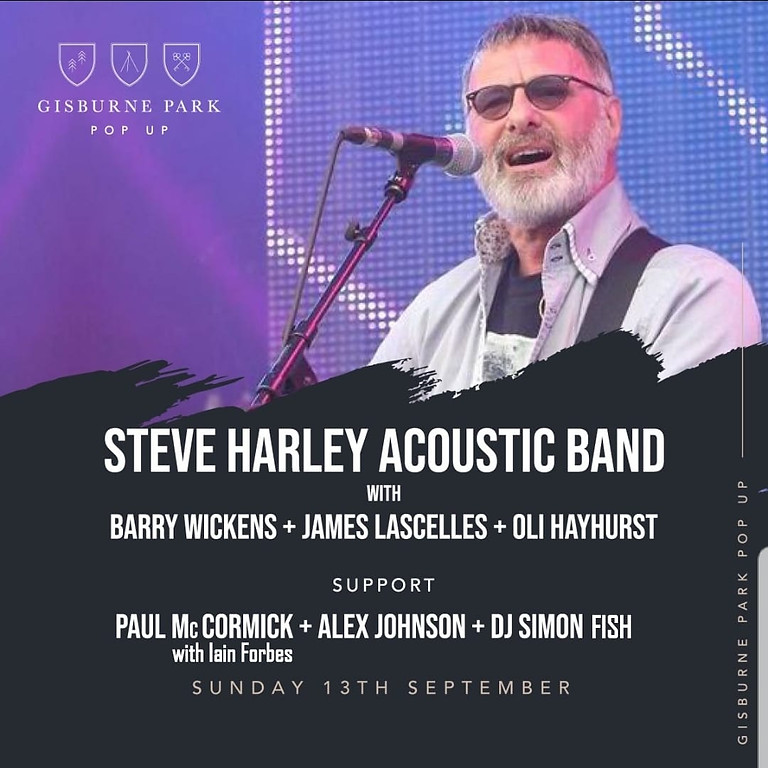 Supporting Steve Harley at Gisburne Park with Paul McCormick