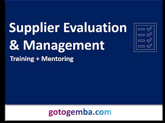 Supplier Evaluation & Management Online Training & Mentoring