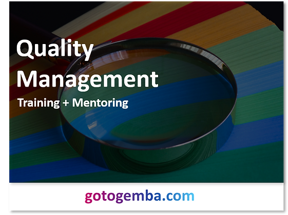 Quality Management Online Training & Mentoring