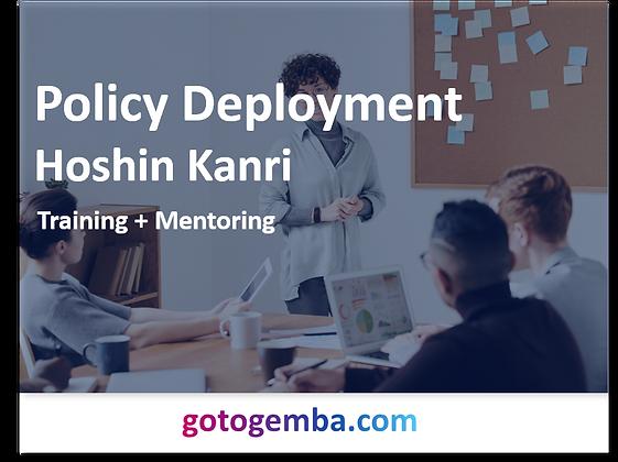 Policy Deployment Hoshin Kanri Online Training & Mentoring