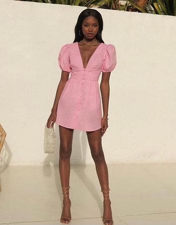 Ellicia Dress- Bubblegum