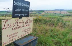 The track to Lanton Hill Farm