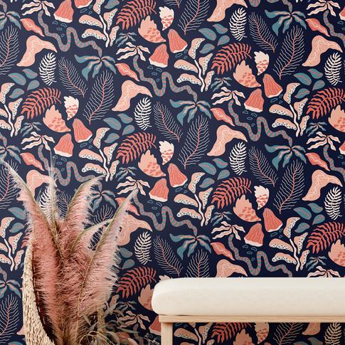 Botanica Blue Tapet