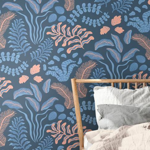 Sonja Pink & Blue Tapet
