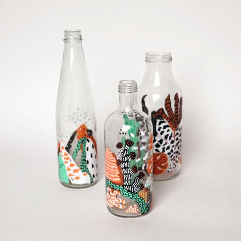 Glasflaskor & illustration